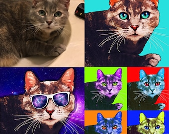 CUSTOM Pop Art Pet Portrait *Digital File*