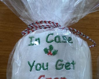 Christmas Novelty Machine Embroidered Toilet Tissue Paper