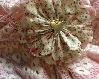 A Selection of  Handmade Shabby Chic Flowers,