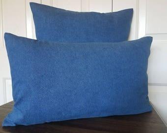 Denim Pillow-Throw Pillow-Denim Pillow Cover-Decorative Pillow-Home Decor-Pillow Cover-Blue Denim Pillow-Accent Pillow Denim Pillows Denim