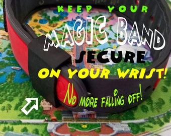 """Disney Magic Band """"Security Sleeves""""! Keep your band secure on your wrist! Magical Colors/Sizes Lg & Sm Free Shipping! MINIMUM ORDER is TWO!"""