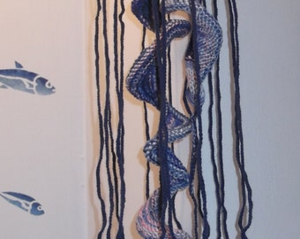 Knitted Jellyfish - Hanging Ornament