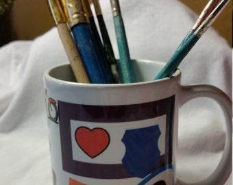 Artist Paint/Pencil Cup