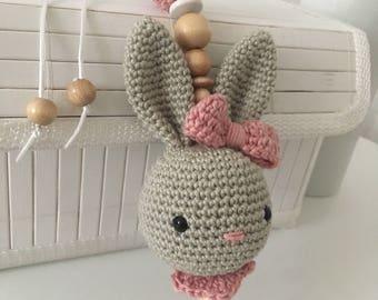 Baby Cup pendant crochet Bunny