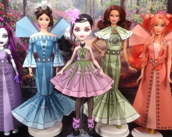 Elaine Printable Doll Clothes - Fits Ever After High, Barbie, Monster High and more!