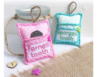 Tooth Fairy pouch,personalised tooth fairy cushion,tooth pocket keepsake,tooth fairy pillow,custom first tooth loss tooth fairy money holder