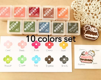 Versacraft ink pad 10 colors Set(Paper/fabric/wood ink pad)