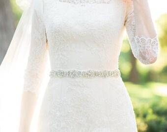 Wedding dress belt bridal sash rhinestone bridal belt
