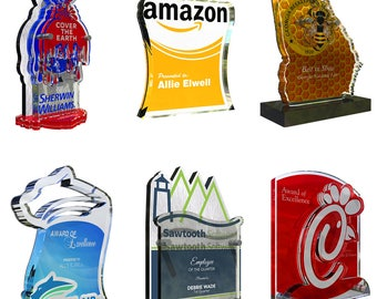 Custom Trophies and Awards made from acrylic