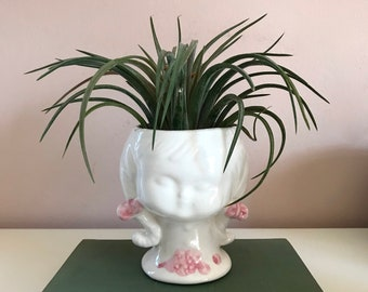 Vintage face Vase / Planter
