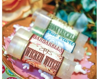 the wicked witch - chocolate banana lip gloss - housed in nifty frosted dispenser