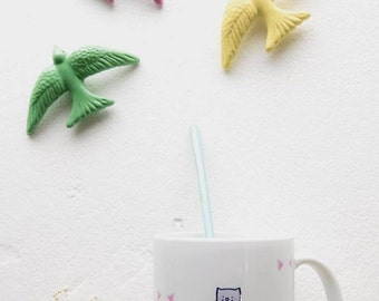 "Design ""Cats"" (11 oz) ceramic mug. Handmade mug. Coffee Cup. Modern mug. The generous"