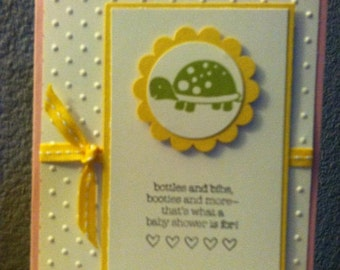 Adorable Turtle Invitation