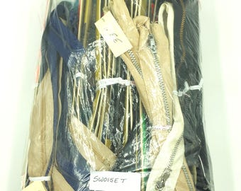 Vintage Zippers  ( Lot of 93 )  Assorted Sizes and Colors