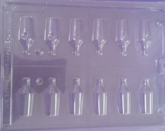 Wine Bottle Chocolate Candy Mold