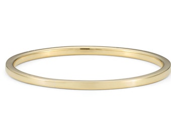 9ct Yellow Gold, Ethical Skinny Plain Stacking Ring