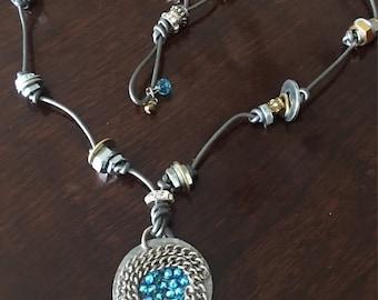 Nuts & Bolts Leather Cord Necklace/Bracelet