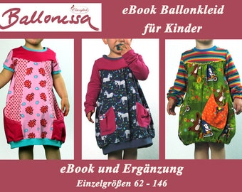 eBook BALLONESSA balloon dress sewing pattern for girls