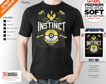 T Shirt of my Team Instinct PG game art clothing design for Men and Women by Barrett Biggers