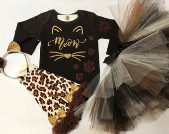 Baby Halloween Costume, Cat Halloween Costume, Toddler Halloween Costume, Baby Girl Halloween Costumes, Meow, Kitty Cat Halloween
