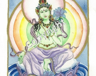Green Tara Card