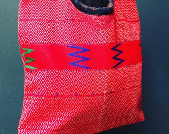 The Anna bag is here! Red Handwoven Tote from Guatemala.
