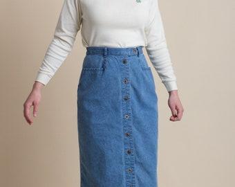Vintage 90s Denim Pencil Skirt | 4/6