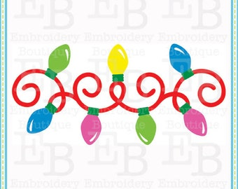 Christmas Light Strand SVG - This design is to be used on an electronic cutting machine. Instant Download