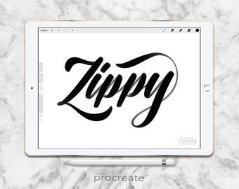 Procreate Brush Zippy Brush