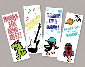 PRINTABLE Children's Book-markers - PDF Digital File