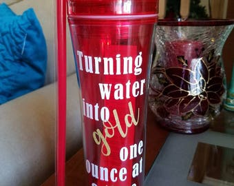 Turning water into gold one ounce at a time. breastfeeding. Water bottle.