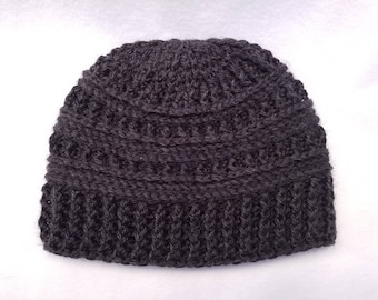 Textured Fitted Beanie / Hat