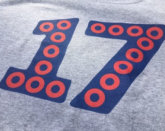PH 17 in 17, 17 Red Donuts Short-Sleeve T-Shirt