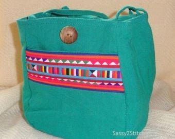 Small Project Tote Bag for Stitchers, Knitters