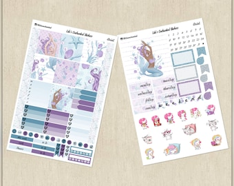 Ariel / Mermaid // Weekly Sticker Kit for Personal Planner // Printable / Cricut / Instant Download