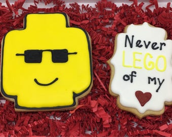 Never Lego my Heart Cookies Gift Set