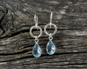 Aquamarine Spirit Stone Earrings