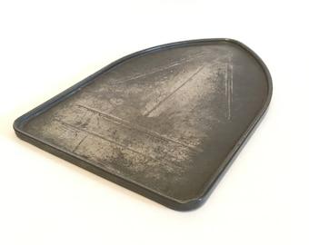 Antique Silver Shield Iron Rest