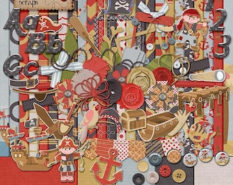 Ahoy There Matey! Digital Scrapbooking Kit