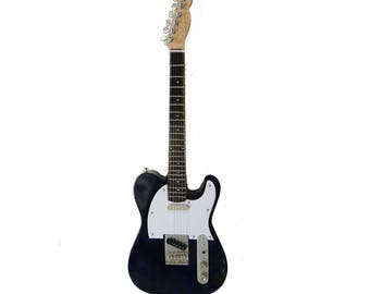 Miniature Guitar Replica: Telecaster Display Guitar Blue Finish