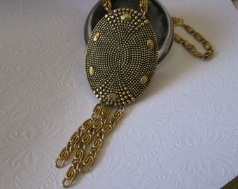 """Vintage 1960s FREIRICH Necklace on 18"""" chain*Goldtone"""