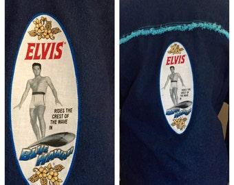 Elvis Altered Couture Denim Jean Jacket, Plus Size, Elvis Appliquéd, Refashioned