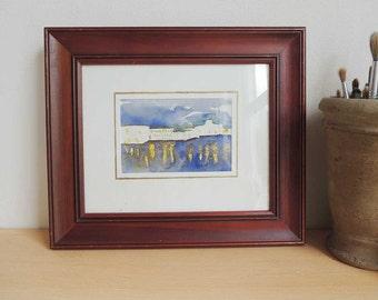 Original Watercolor Framed French Matting