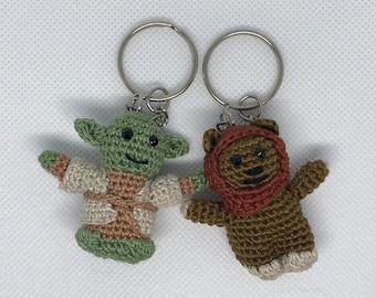 Star Wars Keychains, Yoka Keychain, Ewok Keychain, Wicket Keychain,