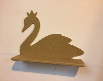 Swan shelf mdf wall hung