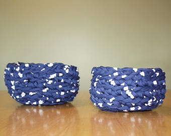 Decorative bowls (set of 2 bowls, crochet)