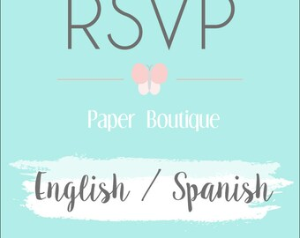Bilingual Invitation Order   English and Spanish Invitation