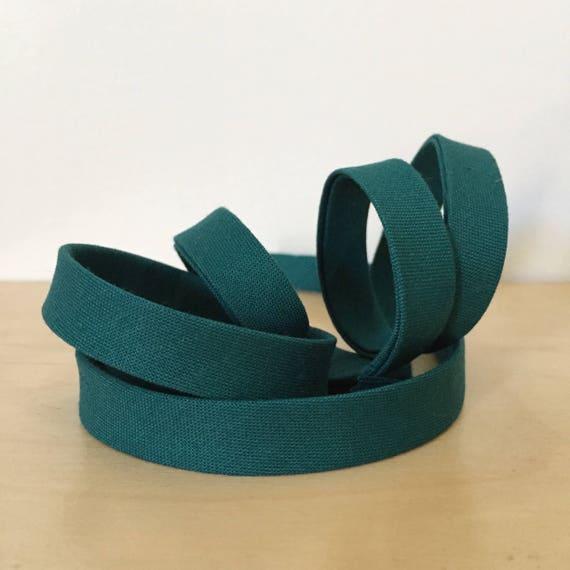 "Bias Tape in Kona Everglade cotton 1/2"" double-fold binding- Teal turquoise green/blue- 3 yard roll"