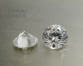 Loose Cubic zirconia round white, 2-10 mm round cut white loose cubic zirconia faceted gem
