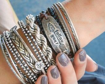 Boho Jewelry, Boho Bracelet, Boho Leather Wrap Bracelet, Boho Chic Jewelry, Bohemian Bracelet, Hippie Bracelet, Follow Your Arrow Bracelet